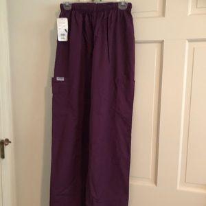 MOBB Ladies Scrub Pants Large Purple NWT